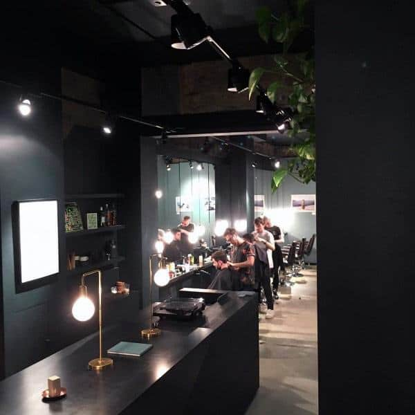 Black Themed Barber Shop Designs