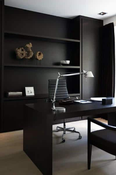Black Themed Small Home Office Ideas