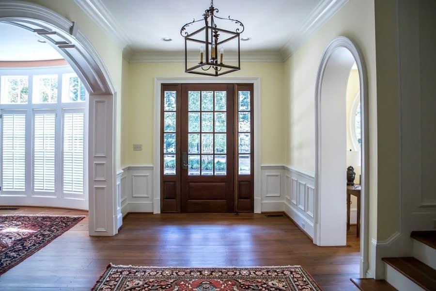 Black Traditional Chandelier Home Foyer Lighting Ideas Inspiration