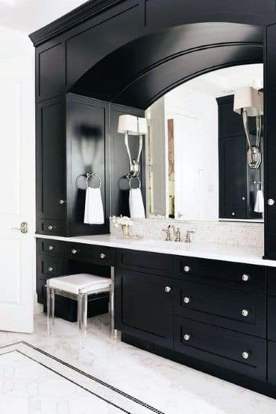 Dark Wood Bathroom Mirror