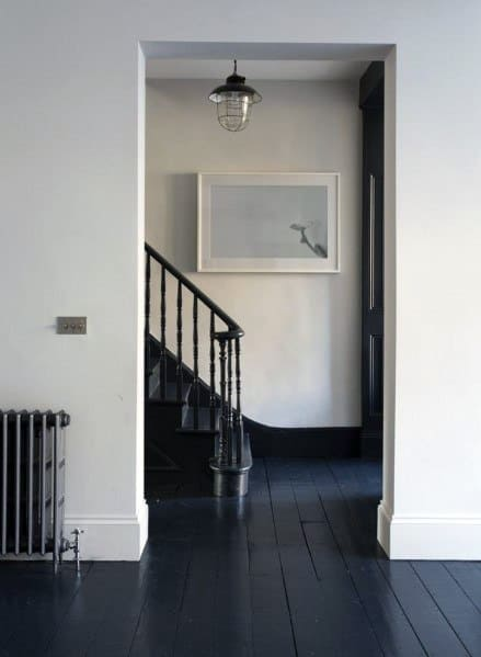Black Vintage Luxury Painted Floor