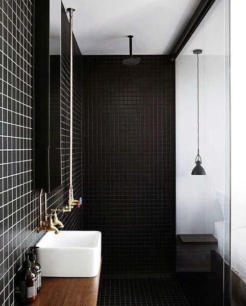 Black Walls In Bathroom