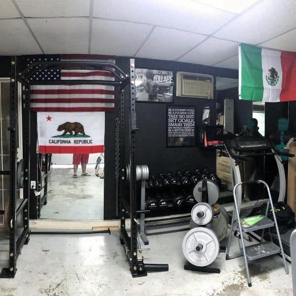 Black Walls Private Home Garage Gym Ideas
