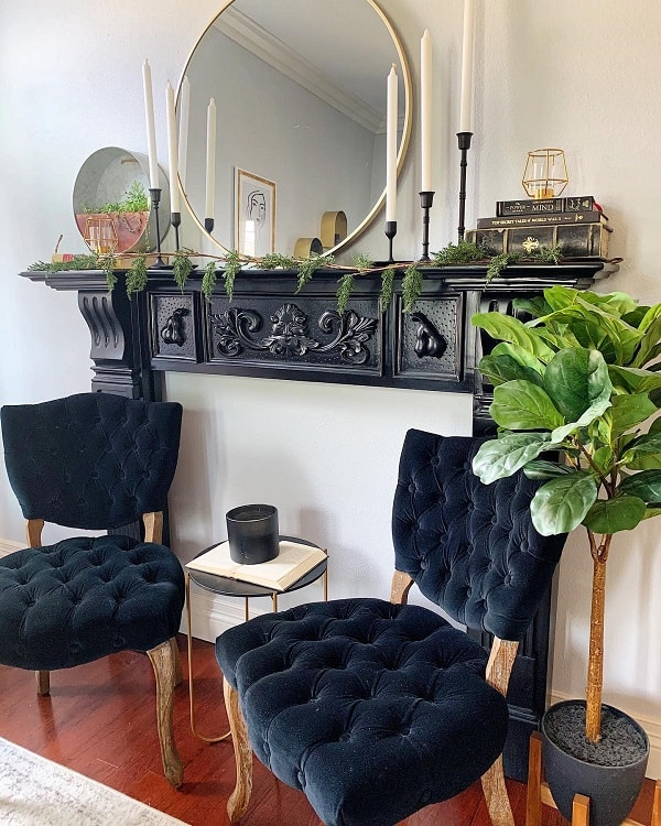 Black White Faux Fireplace Surround Karli Delgadillo