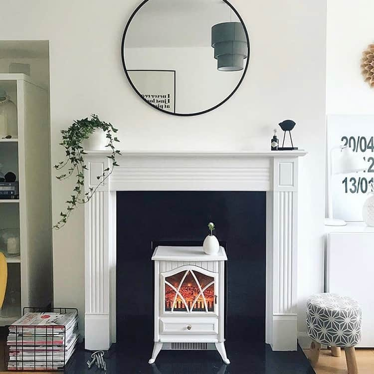 Black White Tile Fireplace Surround Inpursuitofwhatishome