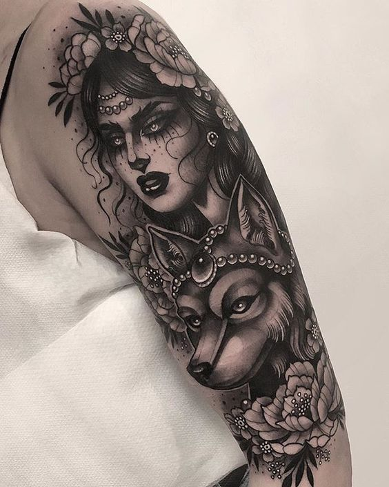 Black Wolf Gypsy Tattoo