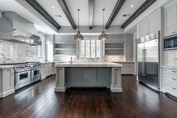 Black Wood Beams Kitchen Ceiling Ideas