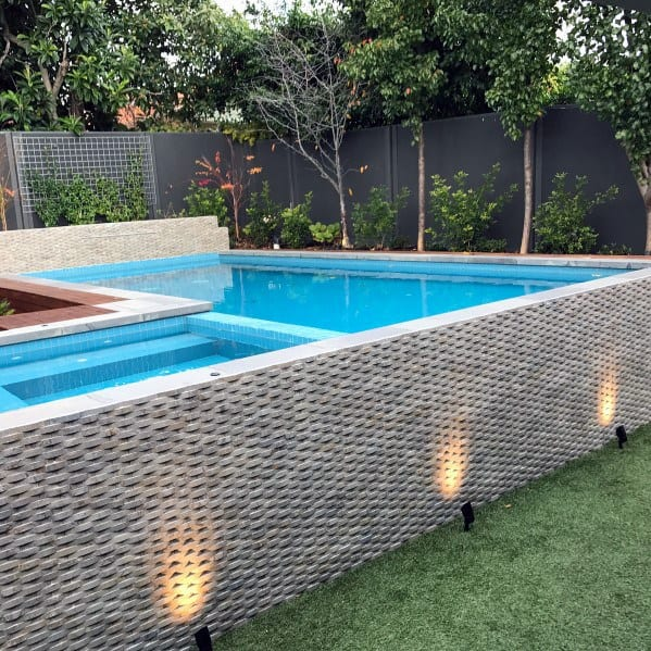 Black Wood Home Backyard Designs Pool Fence