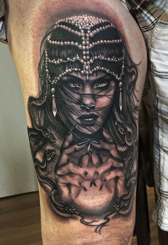 Black Work Amazing Gypsy Tattoo