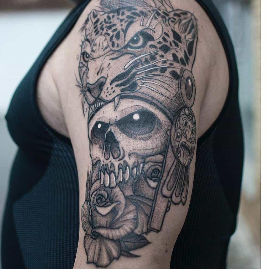 black-work-skull-jaguar-tattoo-dani_darko_tattoo