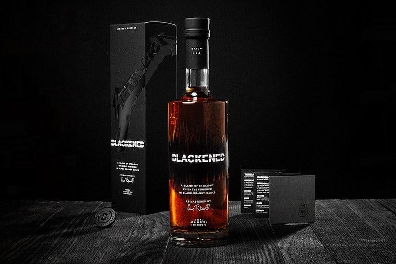 Blackened Whiskey Launches Metallica Black Album Whiskey Pack