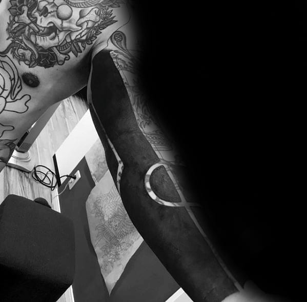 Blackout Sleeve Male Tattoo Designs