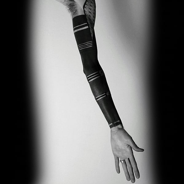 Blackout Sleeve Tattoos Male