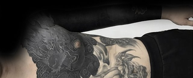 Blackout Tattoo Sleeve Designs For Men