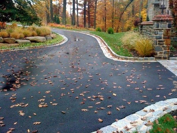 Blacktop Driveway Edging Designs
