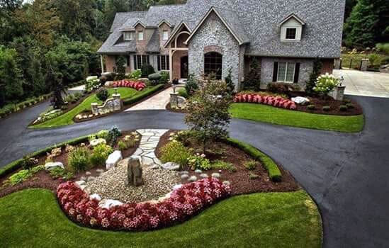 Blacktop Driveway Landscaping Home Designs