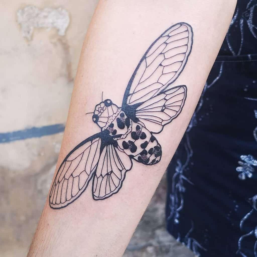 blackwork Cicada Tattoos loeuvre.au.noir