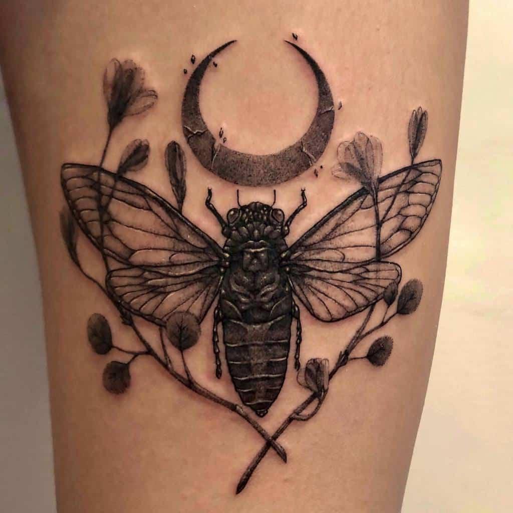 blackwork Cicada Tattoos sync.ink