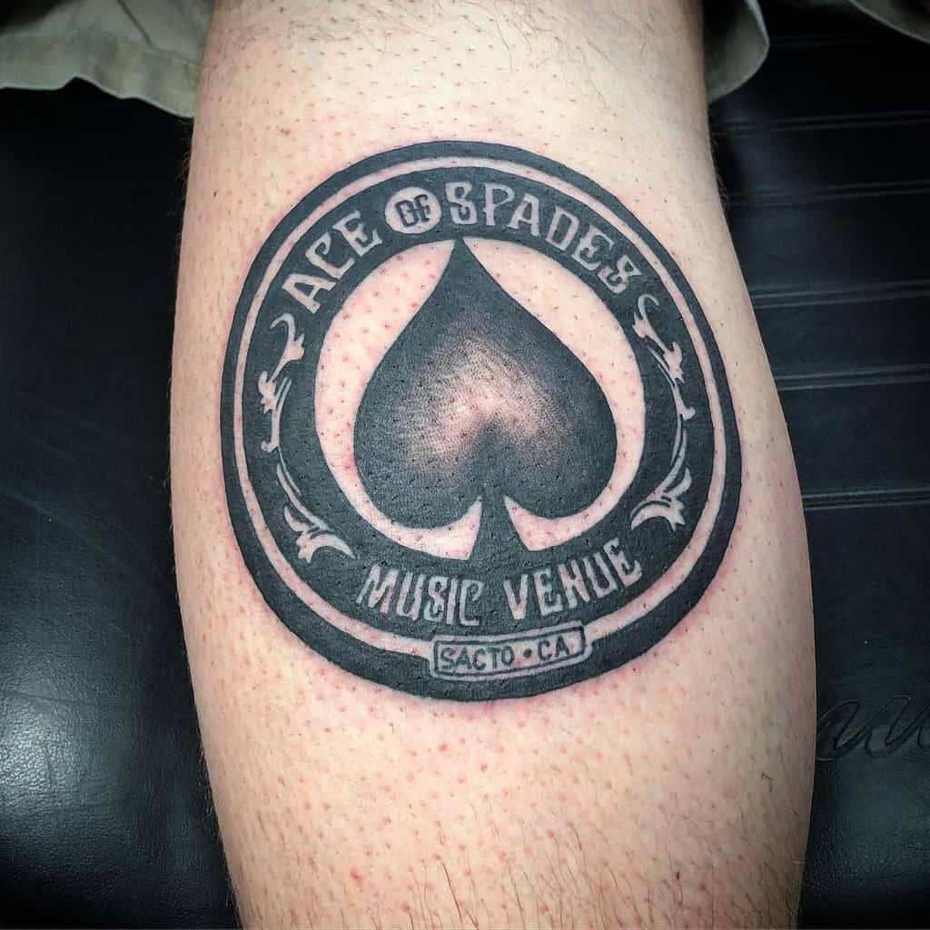 Blackwork Ace Of Spades Tattoo Boxcar Benji