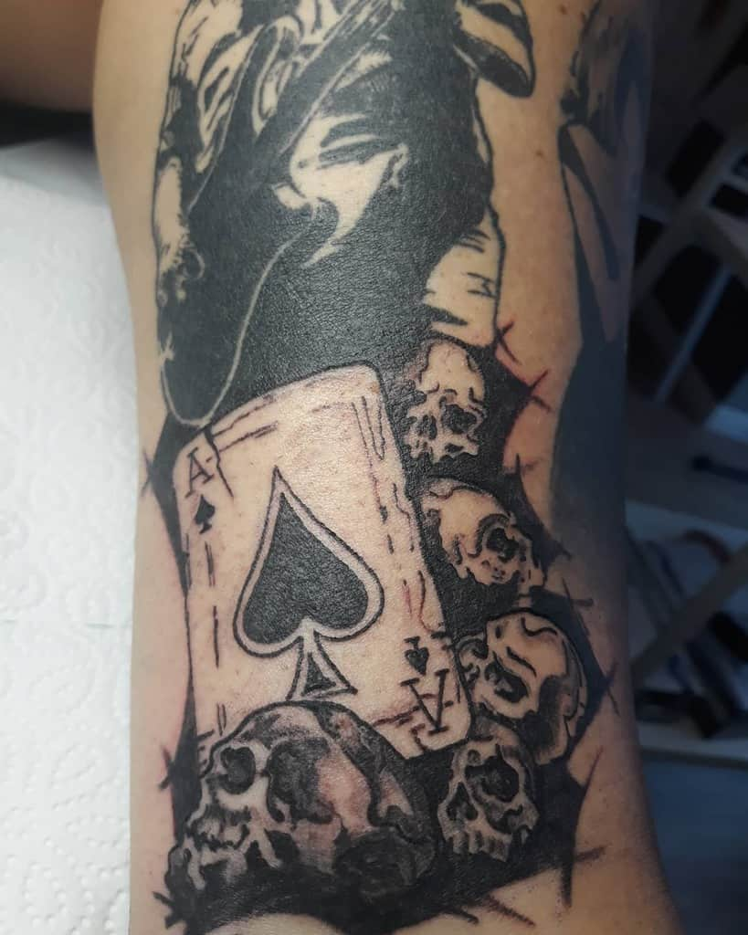 Blackwork Ace Of Spades Tattoo Marusca Ink