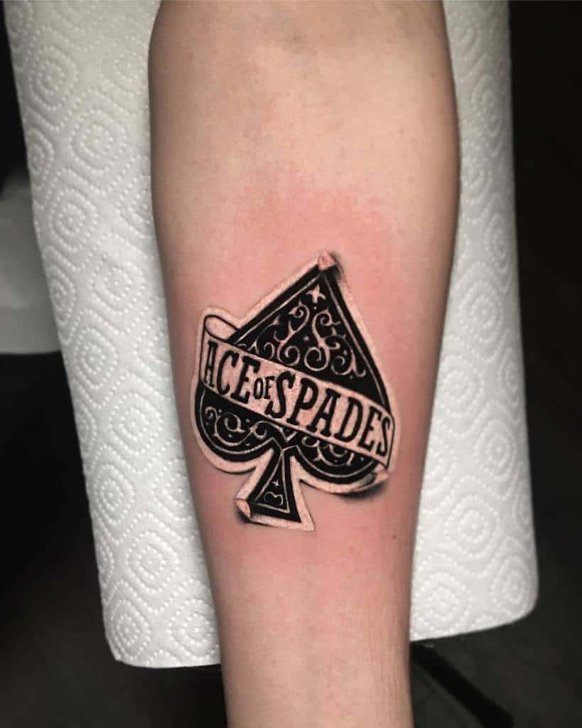 Blackwork Ace Of Spades Tattoo Takisthirtysevens