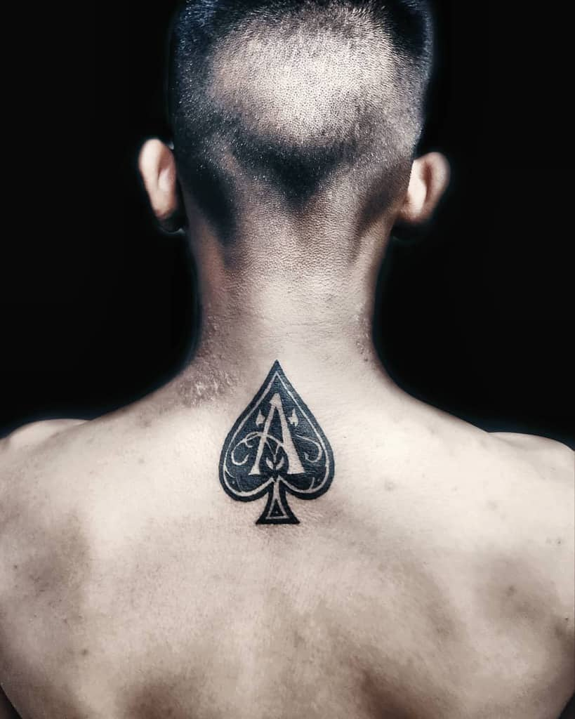 Blackwork Ace Of Spades Tattoo Tiranatattooing