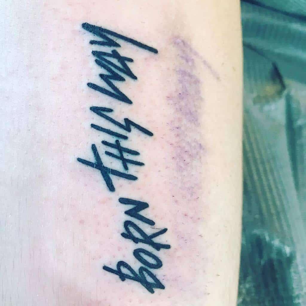 Blackwork Born This Way Tattoos Christinaprimeautattoos