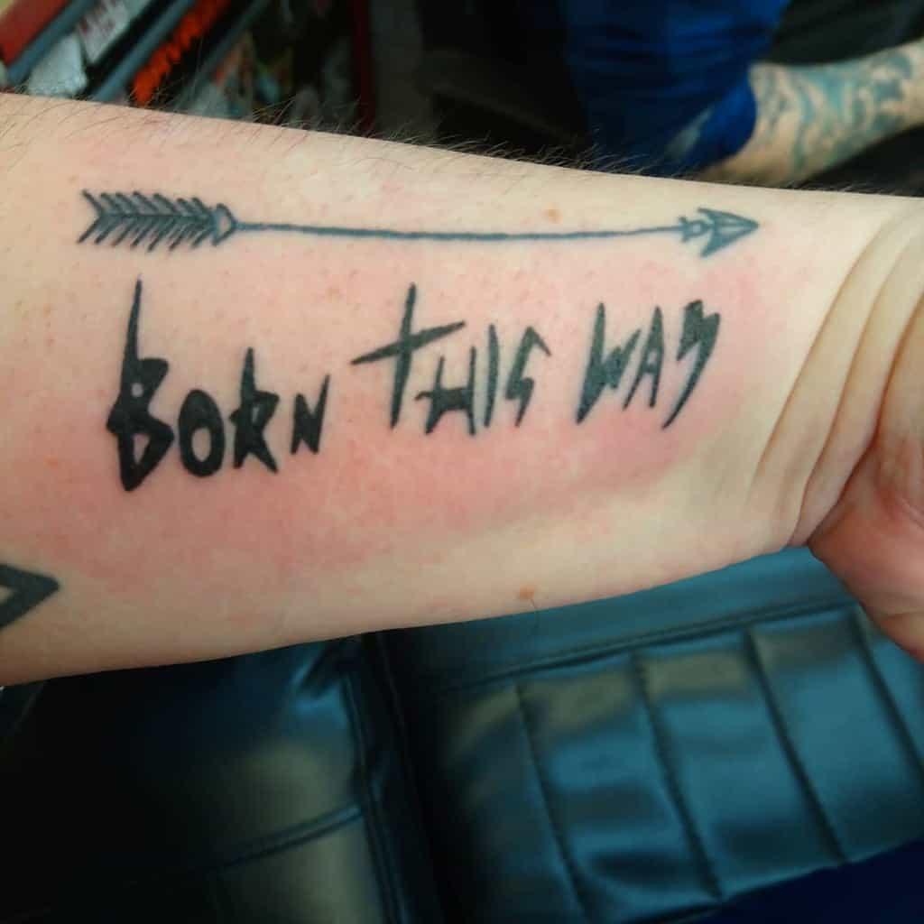 Blackwork Born This Way Tattoos Jenraefrances