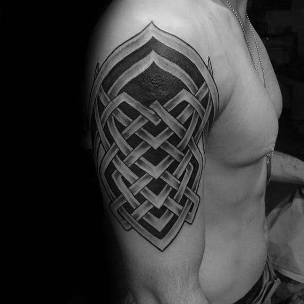 100 Delightful Blackwork Tattoo Designs: 100 Celtic Knot Tattoos For Men