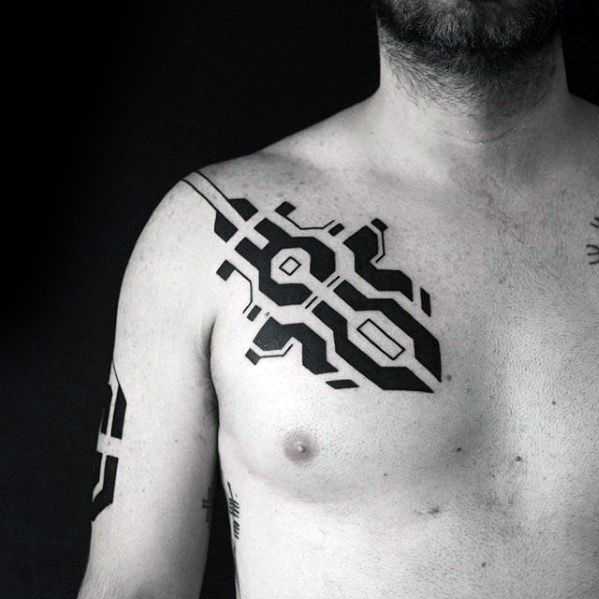 2ba51173e 40 Small Chest Tattoos For Men - Manly Ink Design Ideas