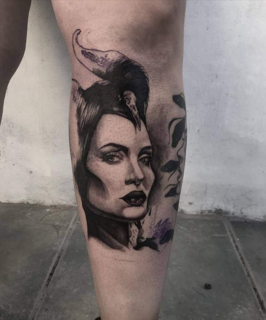 Blackwork Maleficent Tattoos Carlosgo.8811