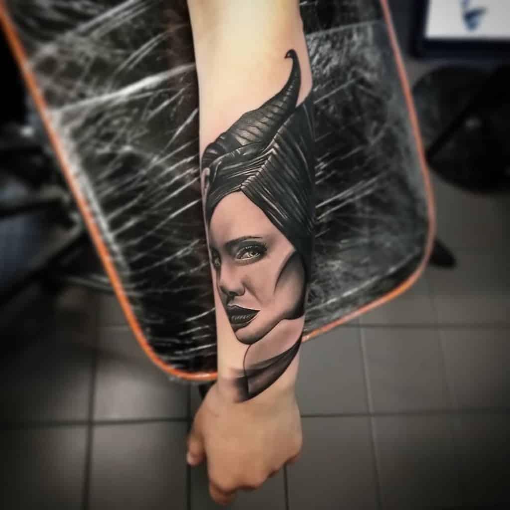 Blackwork Maleficent Tattoos Woodzytattoos
