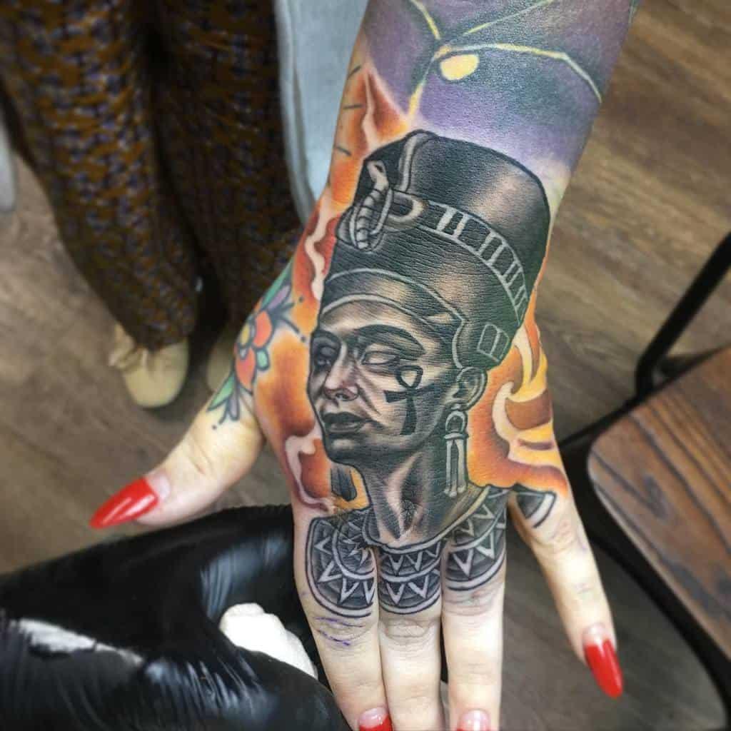 Blackwork Nefertiti Tattoos Butterkills