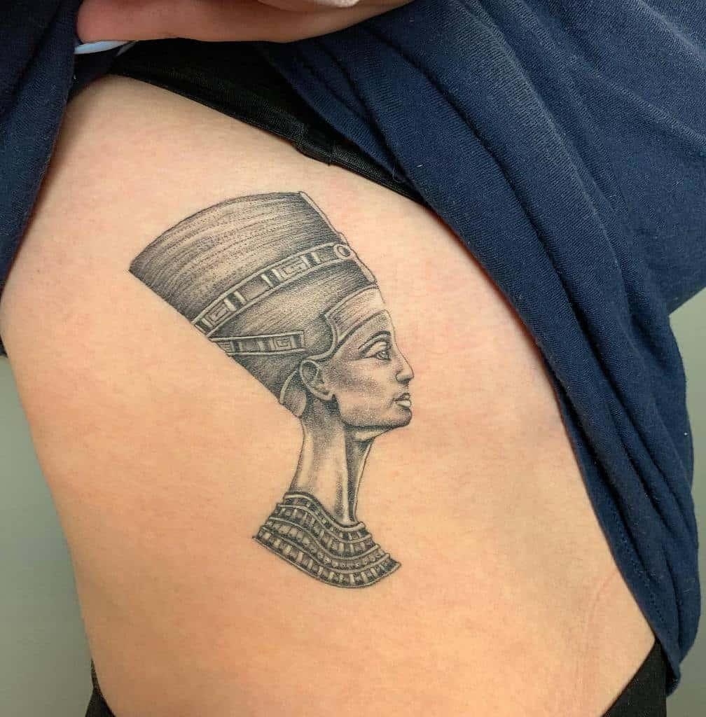 Blackwork Nefertiti Tattoos Lozzarachtattooer
