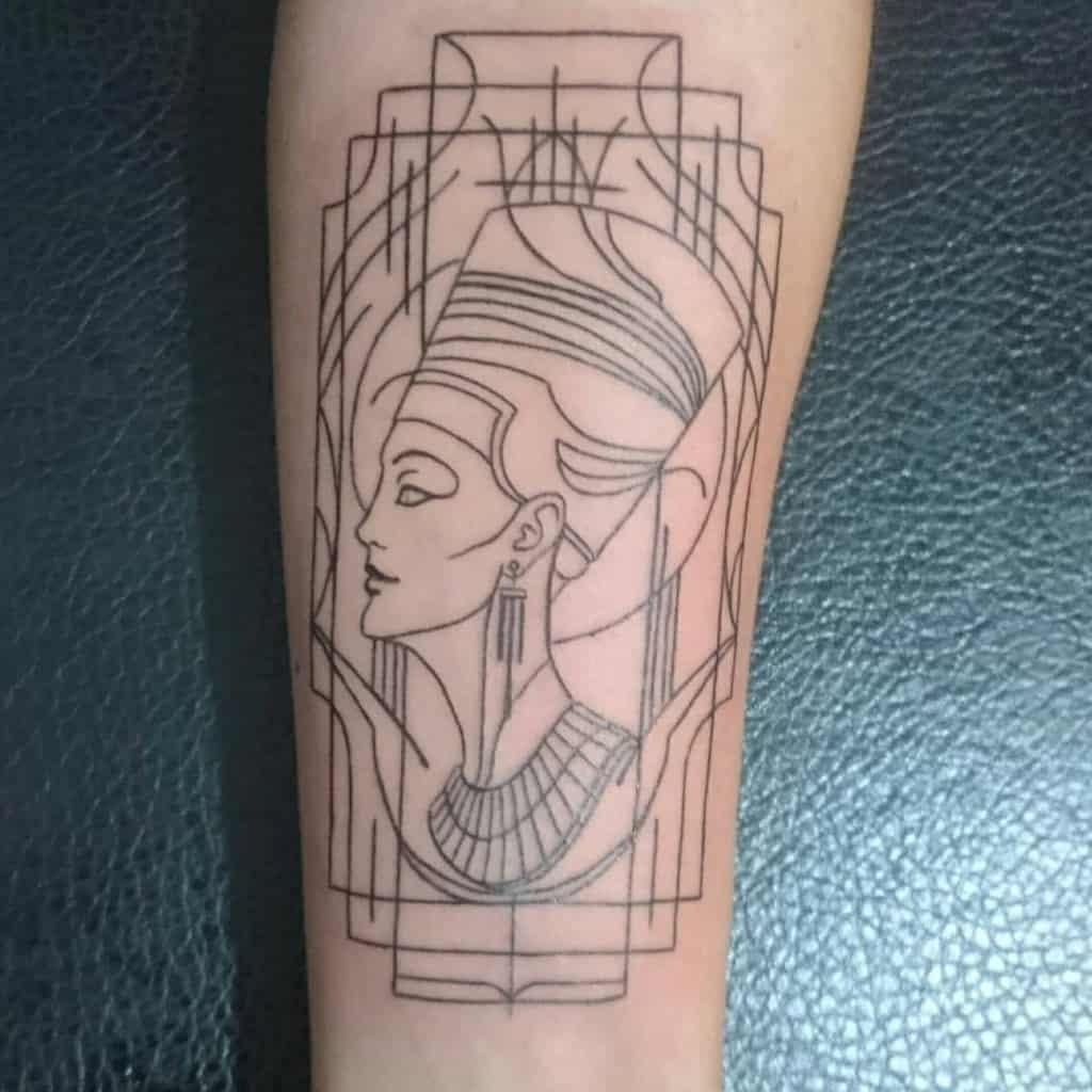 Blackwork Nefertiti Tattoos Nadide.turk