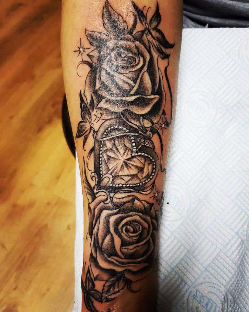 blackwork rose sleeve tattoos state_of_the_art_ink