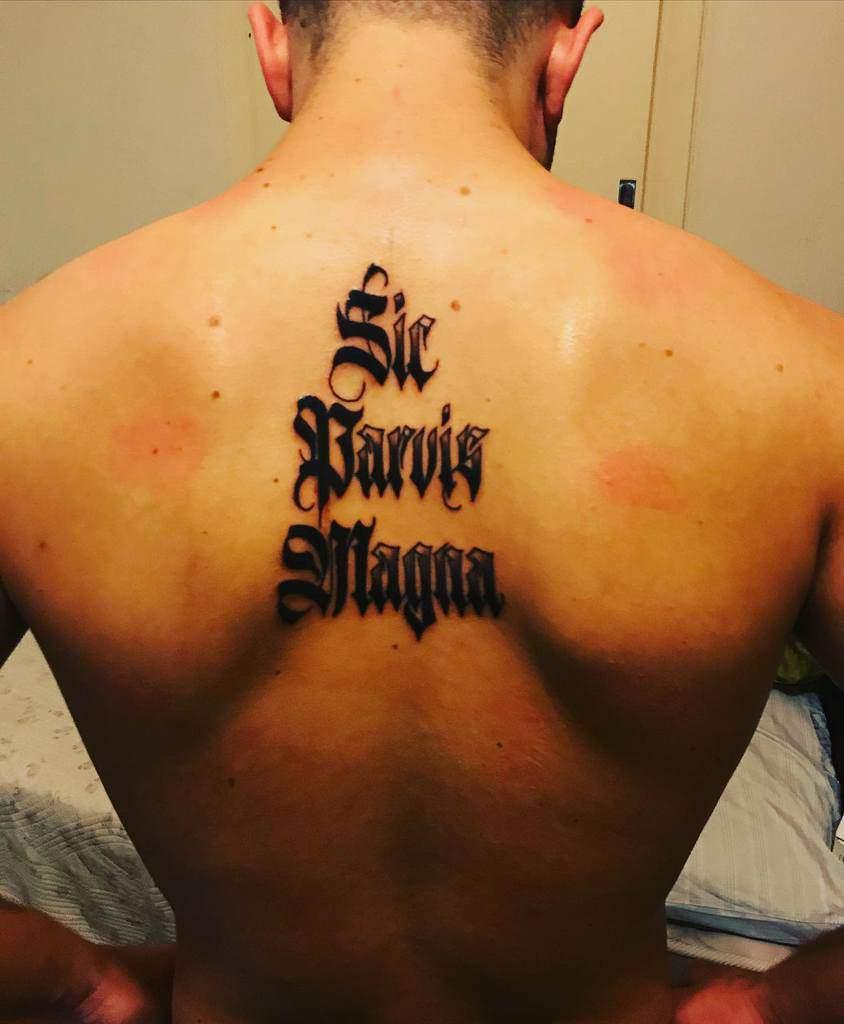 Blackwork Sic Parvis Magna Tattoos Ms.eva Pats