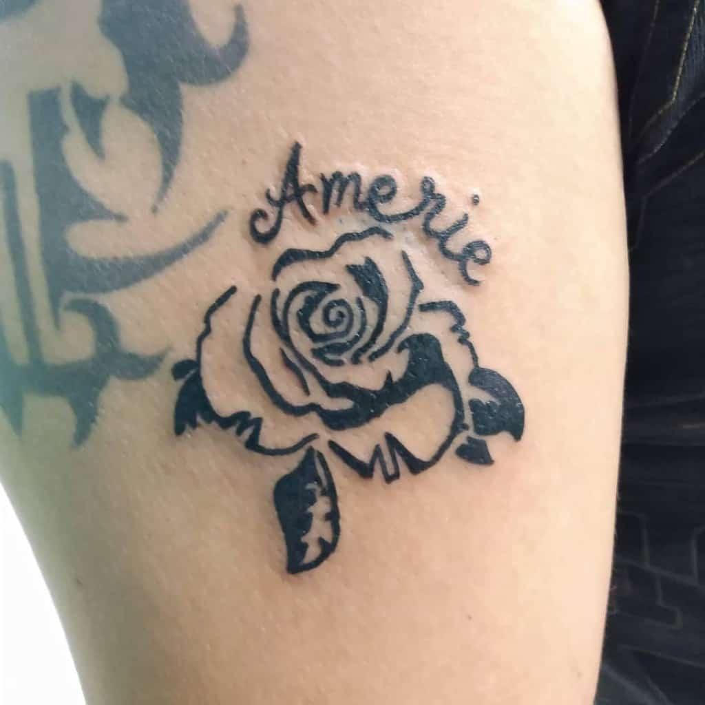 blackwork tribal rose tattoos tatu_lillarry