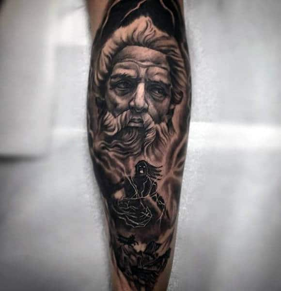Blazing Dark Greek Myth Tattoos For Guys