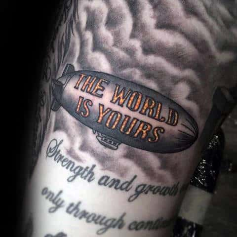 30 The World Is Yours Tattoo Designs For Men Manly Ink Ideas