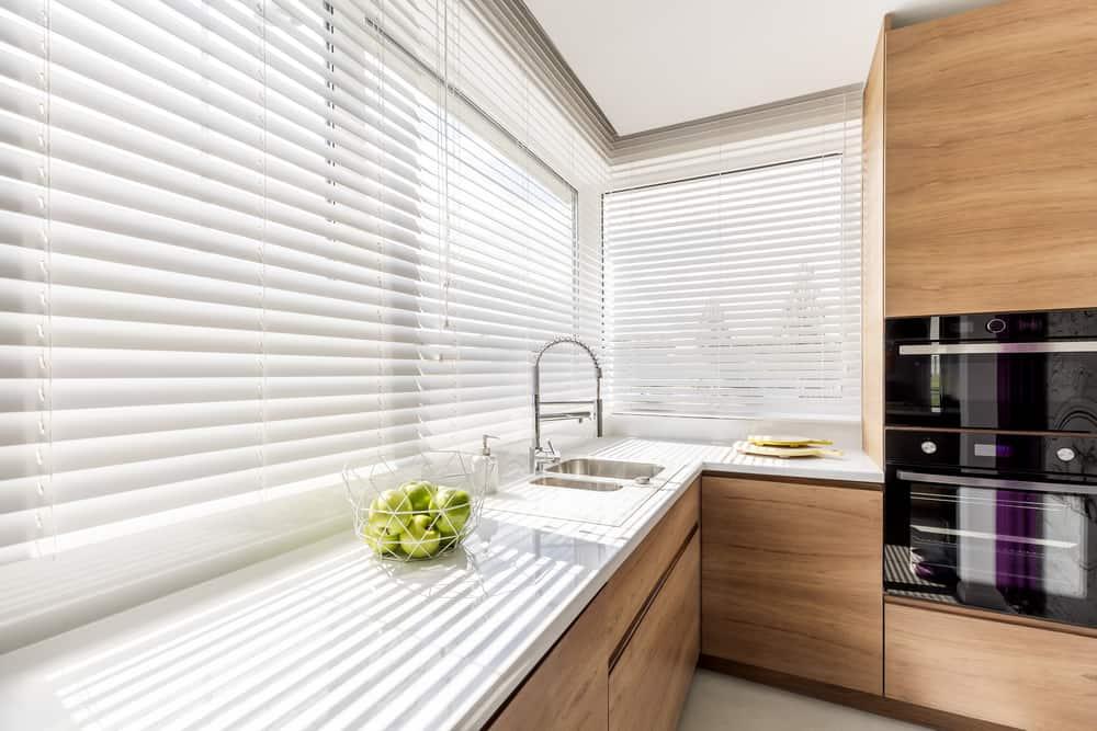 blind kitchen curtain ideas 1
