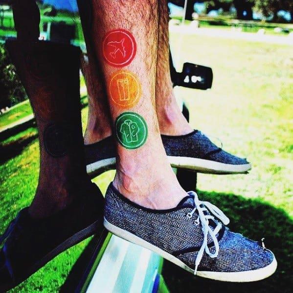 Blink 182 Mens Leg Tattoo Ideas