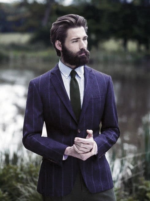 Brown Mens Classy Beard Styles