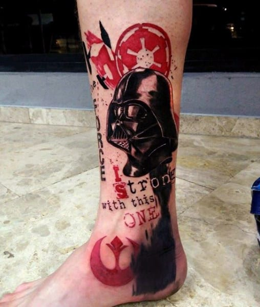 Bloody Darth Vader Tattoo Male Ankels