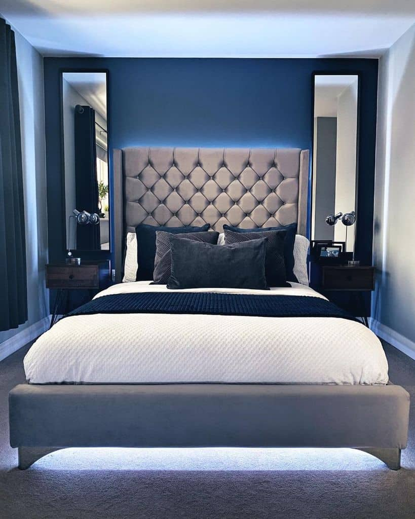 blue accent walls blue bedroom ideas 41parkfarm