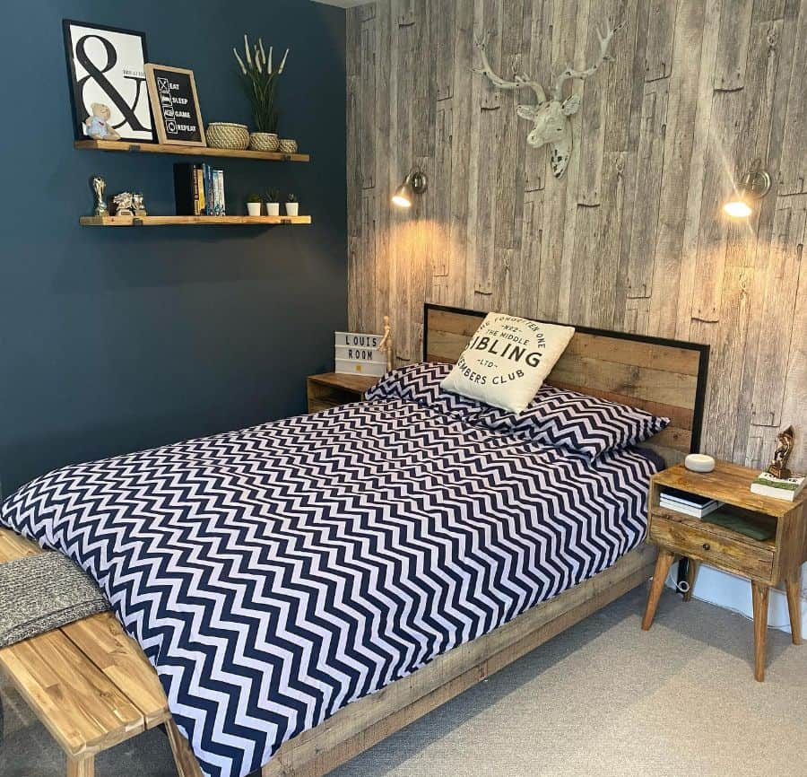 blue accent walls blue bedroom ideas lottieshousebuild
