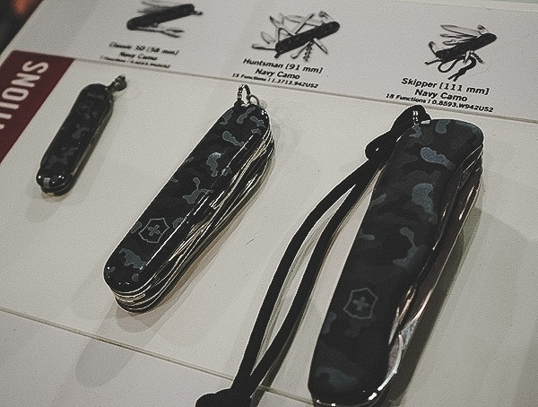 Blue And Black Camo Victorinox Swiss Army Pocket Knife Collection