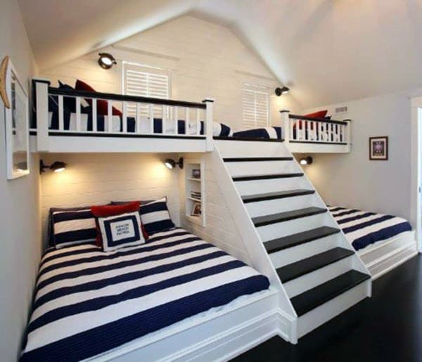 Top 70 Best Bunk Bed Ideas Space Saving Bedroom Designs