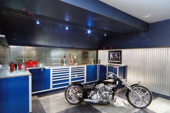 Blue And White Garage Ceiling Ideas Paint Designs