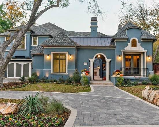 Blue Cool House Paint Design Ideas